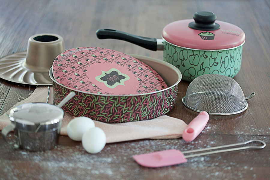 Utensílios para fazer bolo