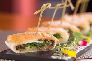 A receita leva shimeji, rúcula e queijo manteiga (foto: divulgação/ Gladstone Campos)