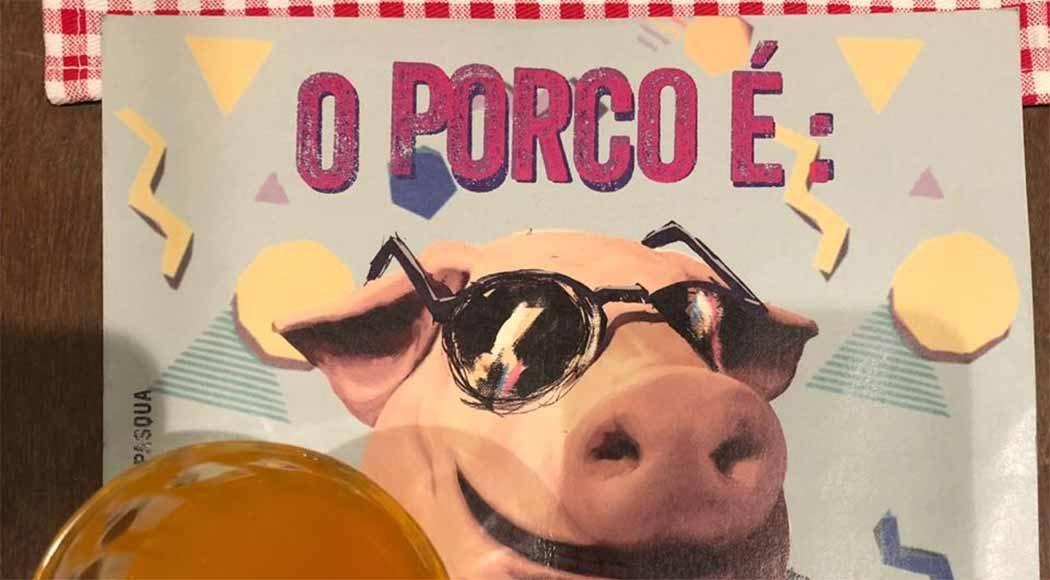 O porco continua a protagonizar as novas criações de Jefferson Rueda (Foto: Beatriz Marques)