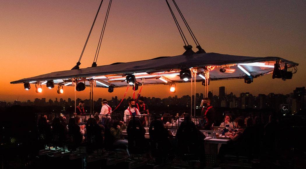 Evento tem jantar surpresa a 50 metros de altura e proteção contra covid