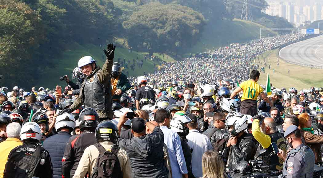 É falso que motociata de Bolsonaro arrecadou 700 toneladas de comida