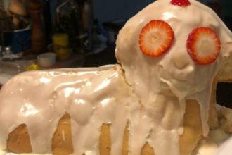 Aquele bolo assustador (Foto: Reprodução/Bored Panda)