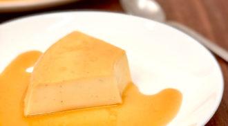 Receita de pudim de caramelo salgado, por Gelita / Foto: Divulgação